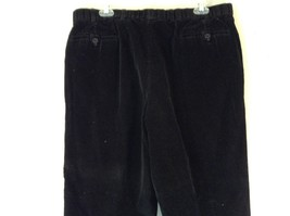 Brooks Brothers Jet Black Corduroy Pants Size 36 Made in Italy image 4