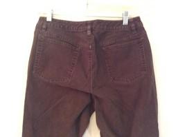 Brown Boot Cut Fit Size 8 Liz Claiborne Casual Pants Button and Zipper Closure image 6