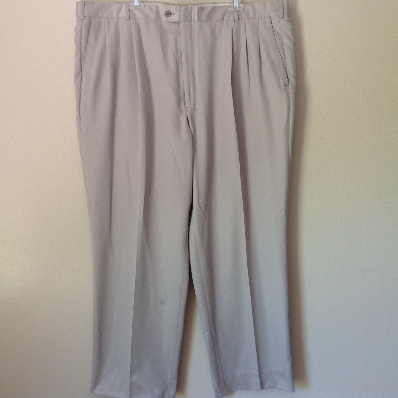 Cobra Golf Como Sport Size 44 Off White Silver Pleated Dress Pants