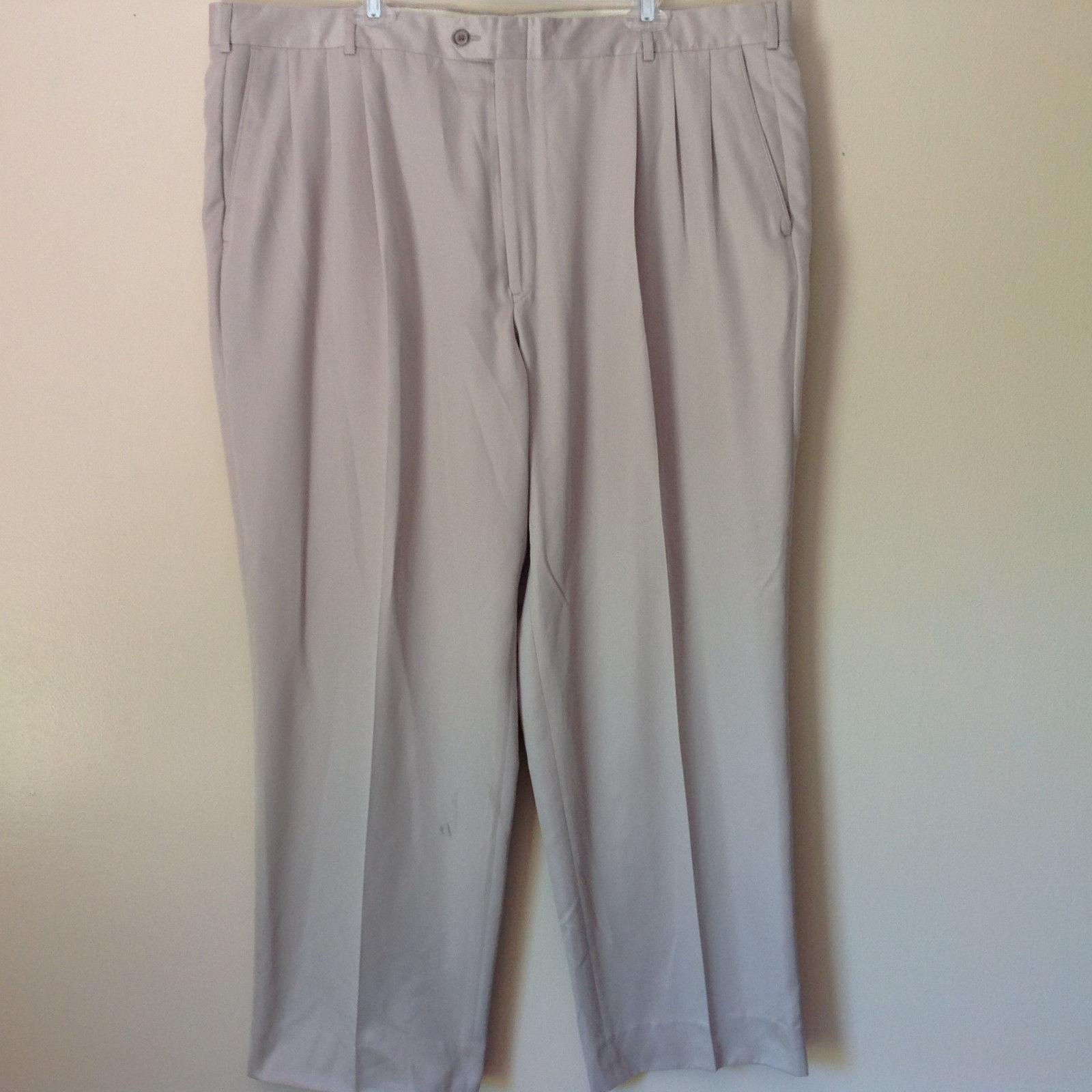Cobra Golf Como Sport Size 44 Off White Silver Pleated Dress Pants