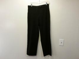 Coldwater Creek Black Flat Front Dress Pants One Back Pocket Size 8