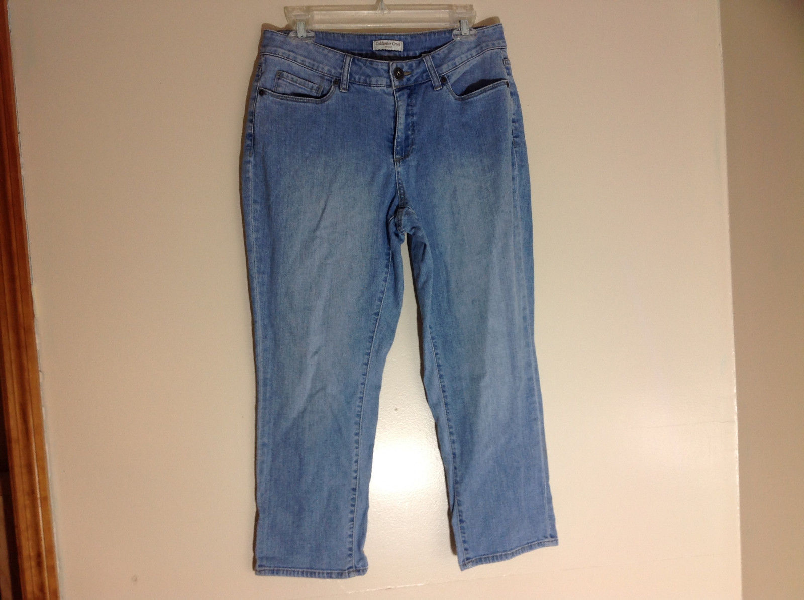 Coldwater Creek Light Wash Capri Jeans 5 Pockets Size 10