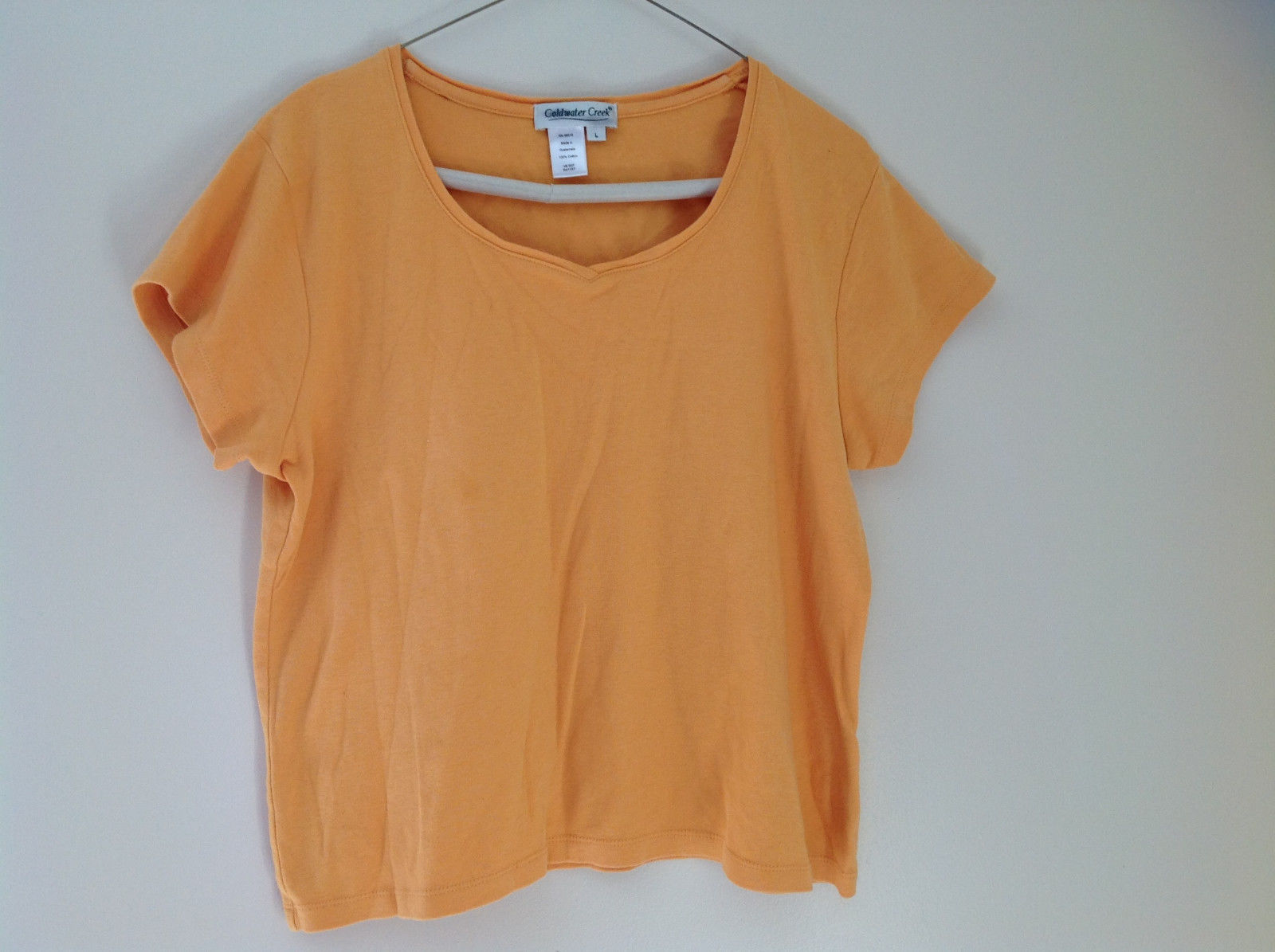 Coldwater Creek Golden Yellow V-neck Short Sleeve Top Size Large