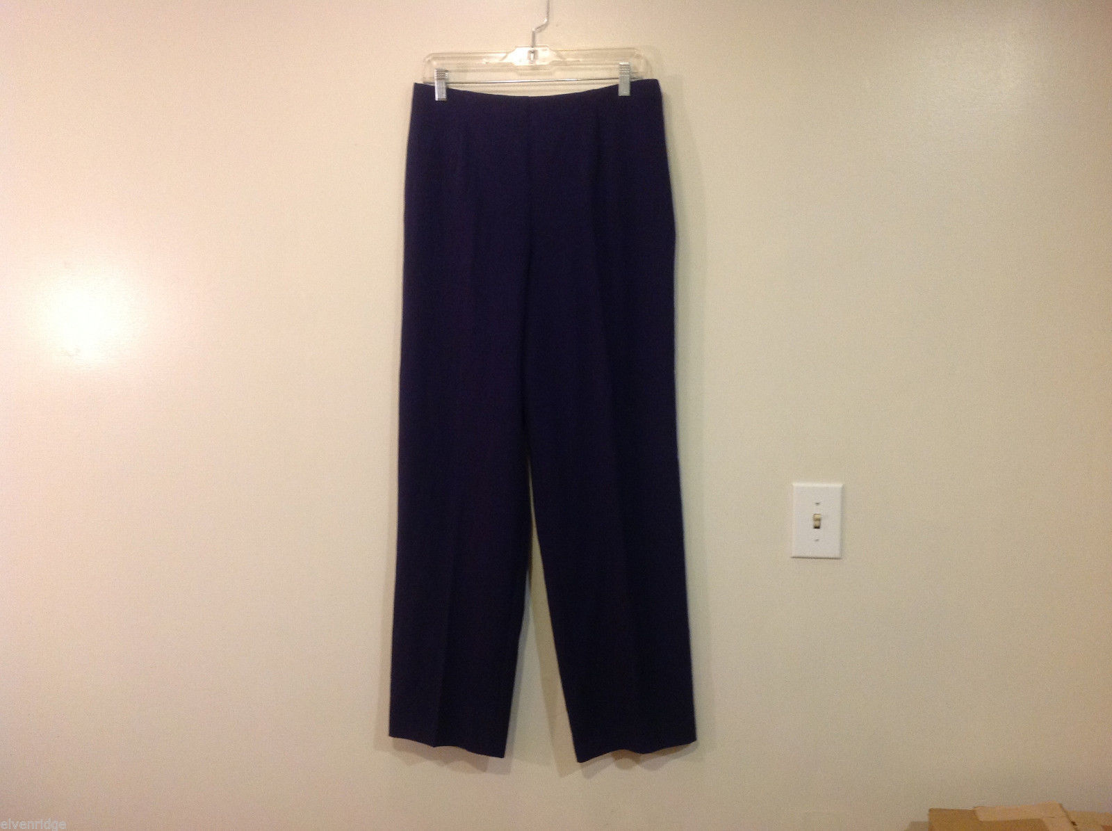 Coldwater Creek Ladies Navy Blue Unlined Pants, Size 12, NO pockets