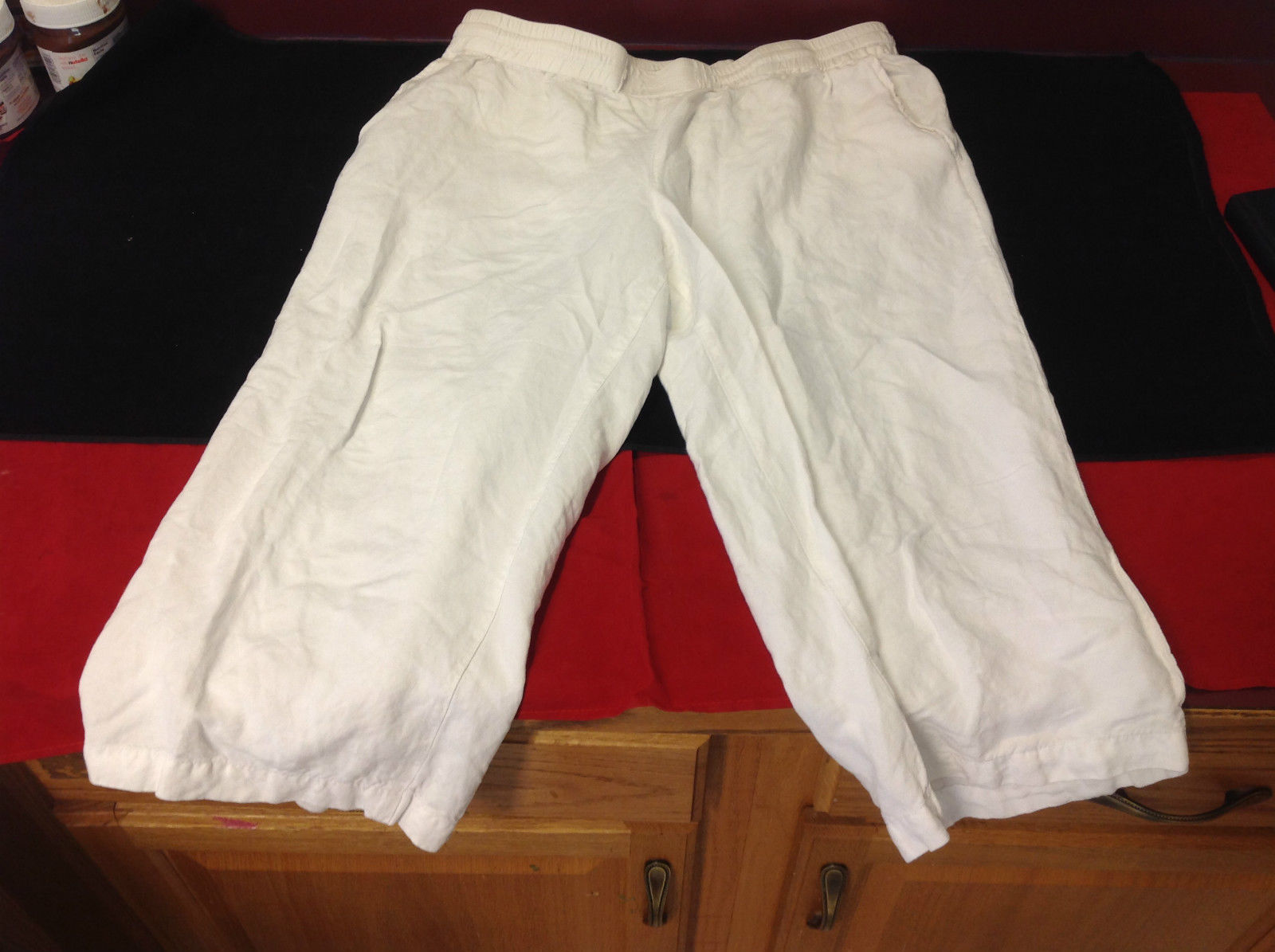 Coldwater Creek Ladies White Capri Pants Natural Fit Size Large 14