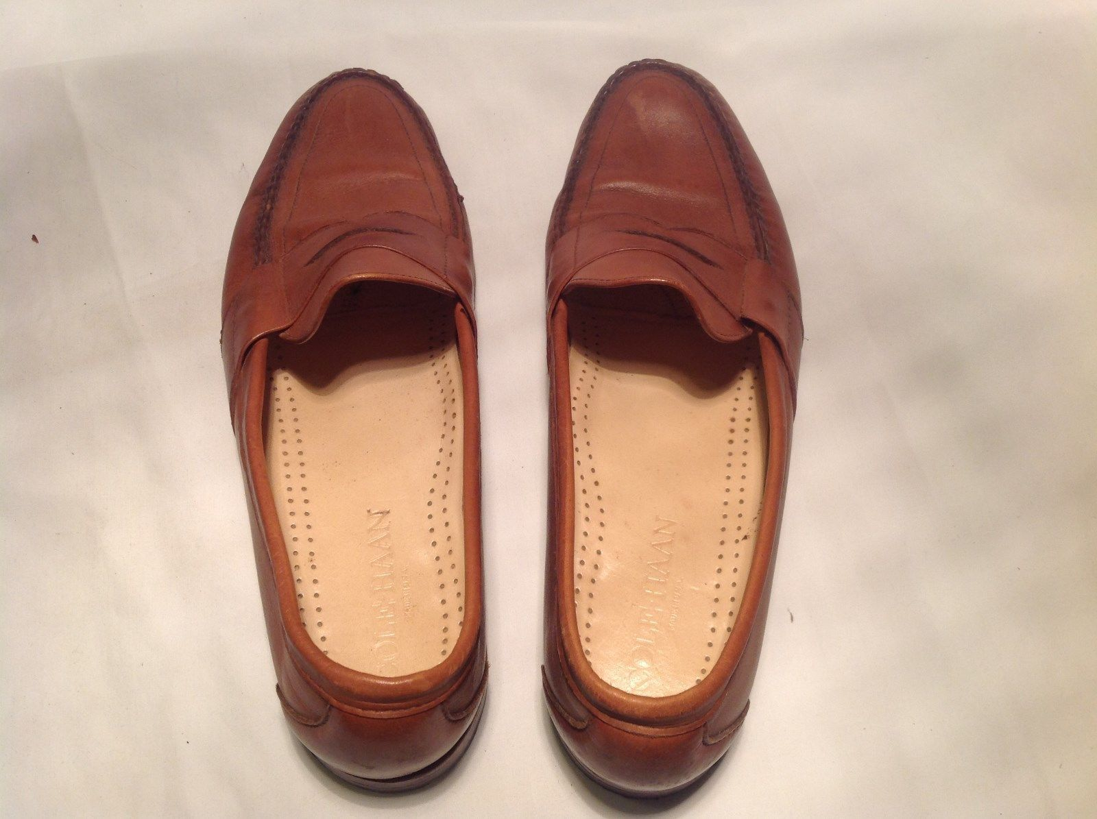 Coleman Brown with Tan Insole Dress Shoes Made in USA Unspecified Size