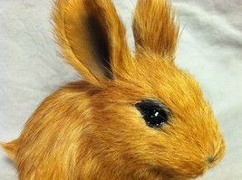 Brown Bunny Rabbit Animal Figurine - recycled rabbit fur image 3