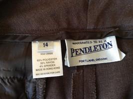 Brown Dress Pants by Pendleton Polyester Rayon Spandex Size 14 image 9
