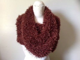 Brown Magic Fuzzy Circle Scarf Can Be Worn Multiple Ways NO TAGS image 5