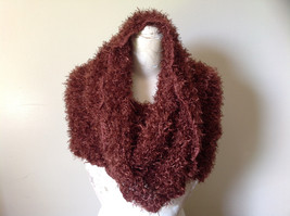 Brown Magic Fuzzy Circle Scarf Can Be Worn Multiple Ways NO TAGS image 2