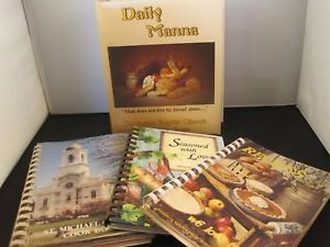 Collection of 4 Cookbooks Vegetarian and Church