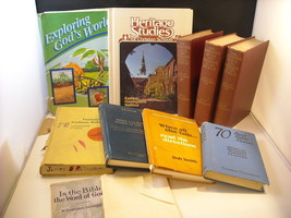 Collection of 11 Christian Themed Educational Books