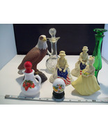 Collection of 8 Avon Perfume bottle holders and related items betsy ross... - $39.59