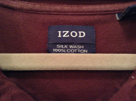 Brown Izod Short Sleeve 100 Percent Cotton Polo Shirt Size Large image 4