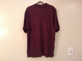 Brown Izod Short Sleeve 100 Percent Cotton Polo Shirt Size Large image 7