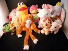 Collection of Miscellaneous Plush toys cat monkey pig elephant - $24.74