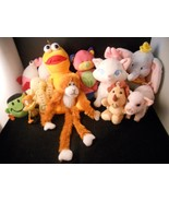 Collection of Miscellaneous Plush toys cat monkey pig elephant - $39.99