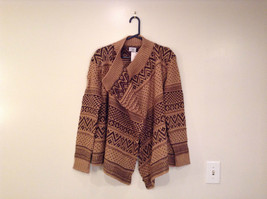 Brown Norwegian Style Long Sleeve Cardigan Sweater Wrap New in Package image 2