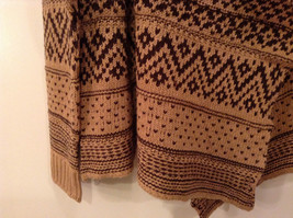 Brown Norwegian Style Long Sleeve Cardigan Sweater Wrap New in Package image 7