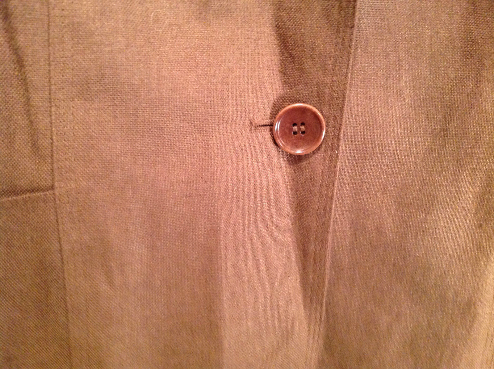 Brown Size 16 Talbots 100 Percent Linen Blazer Two Button Closure Two Pockets image 5
