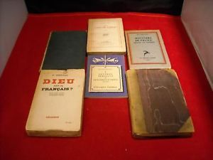 Collection of Vintage French Books Sieburg Montesquieu