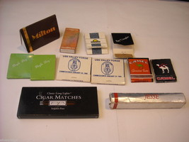 Collection of match boxes and books with unusual designs triangle cigar Camel