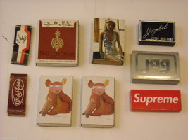 Collection of match books with unusual designs vintage Hollywood and more