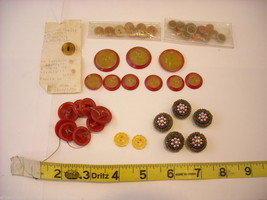 Collection of vintage buttons plain and fancy image 1
