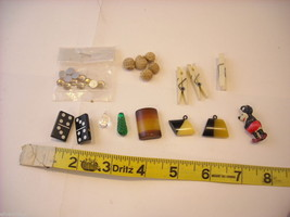 Collection of vintage buttons and pendant mickey mouse dominoes image 1