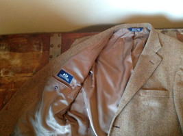 Brown Stafford Two Button Closure Wool Suit Jacket 2 Front Pockets image 7