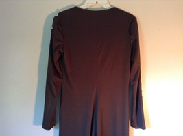 Brown Zipper Buttons Sides Shoulder Tops Around Neck Wrap Around Dress Size 10 image 7