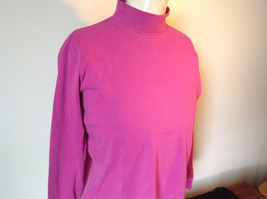 Cabin Creek Pink Long Sleeve Turtleneck 100 Percent Cotton Size Small image 4