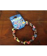 Colorful Flowers Beaded Mood Jewelry Bracelet Wire Coils Around Wrist 3 ... - $0.00