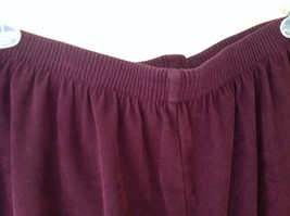 Burgundy Elastic Waist Alfred Dunner Pants Two Pockets Size 22W image 3