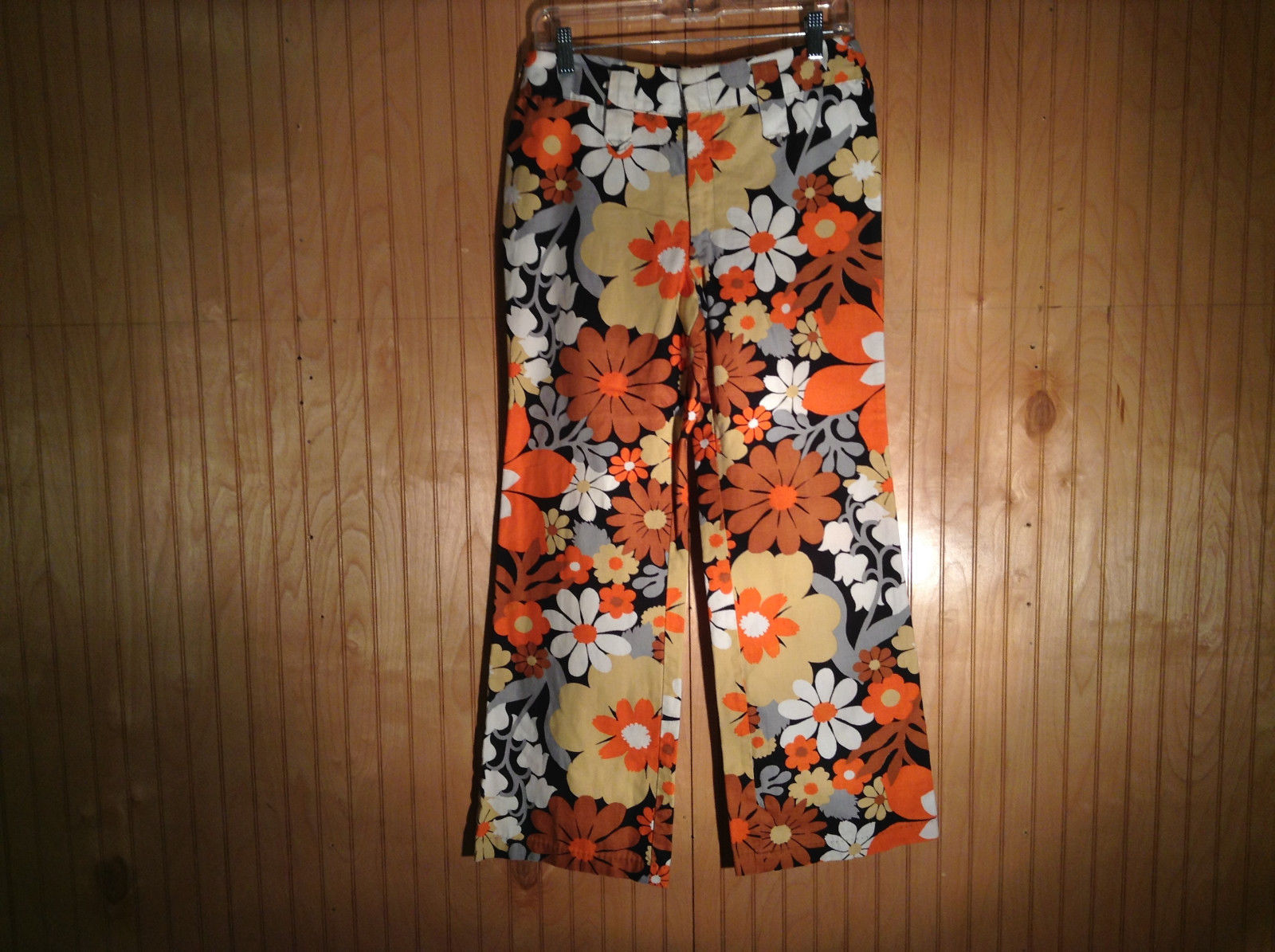 Colorful Pants with Floral Pattern by HIS For Her No Size Tag Measurements Below