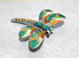 Colorful Metal Dragonfly Ornament Flexible Tail