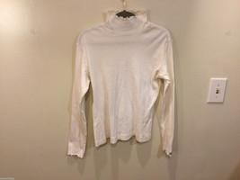 Columbia Womens 100% cotton White Turtleneck Sweater, Size M