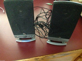 Computer Speakers with stand and cables image 1