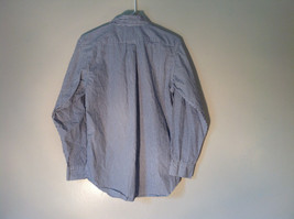 Button Down Long Sleeve Shirt with Collar Striped White and Gray Chaps Size XL image 8