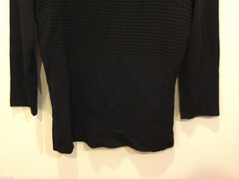 Cable & Gauge 3/4 sleeve Simple and Elegant Black Stretchy Blouse, Size S image 3