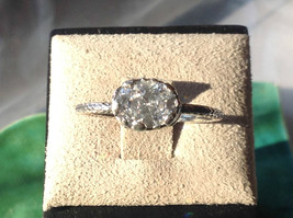 CZ Cubic Zirconia Glittering Sterling Silver Faceted Ring Size 8 image 6