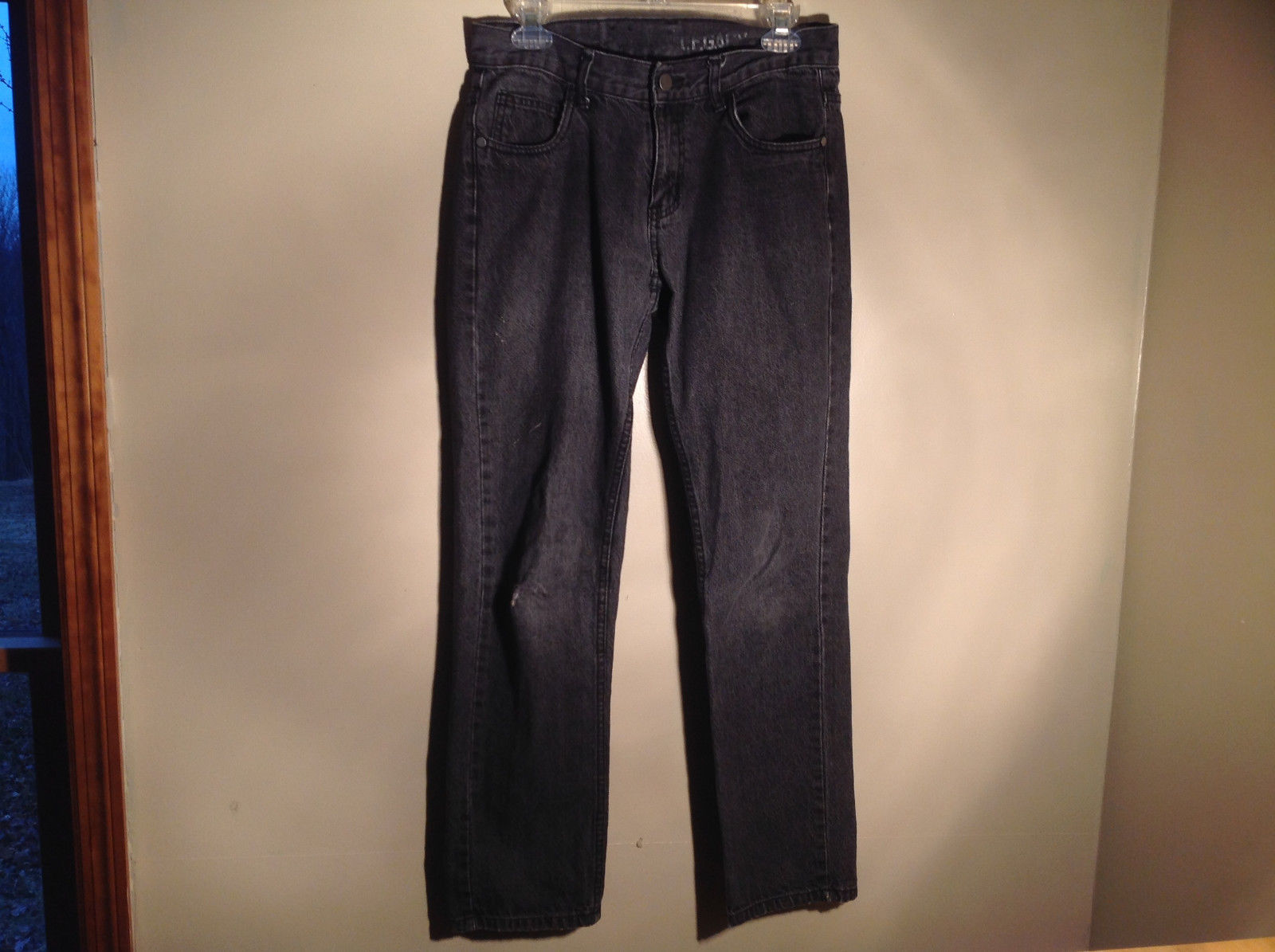 Core Legacy Black Denim Jeans 100 Percent Cotton Size 30