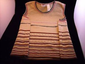 Cotton Sleeveless Sweater vest Liz Claiborne 3P womens