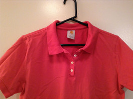 Carhartt Size Large Red Short Sleeve Cotton Blend Polo Shirt image 2