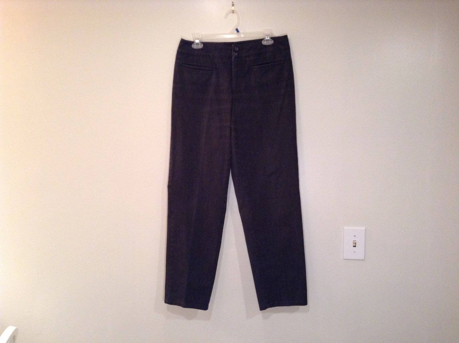Covington Size 12 Dark Gray Stretch Casual Pants Pockets Excellent Condition