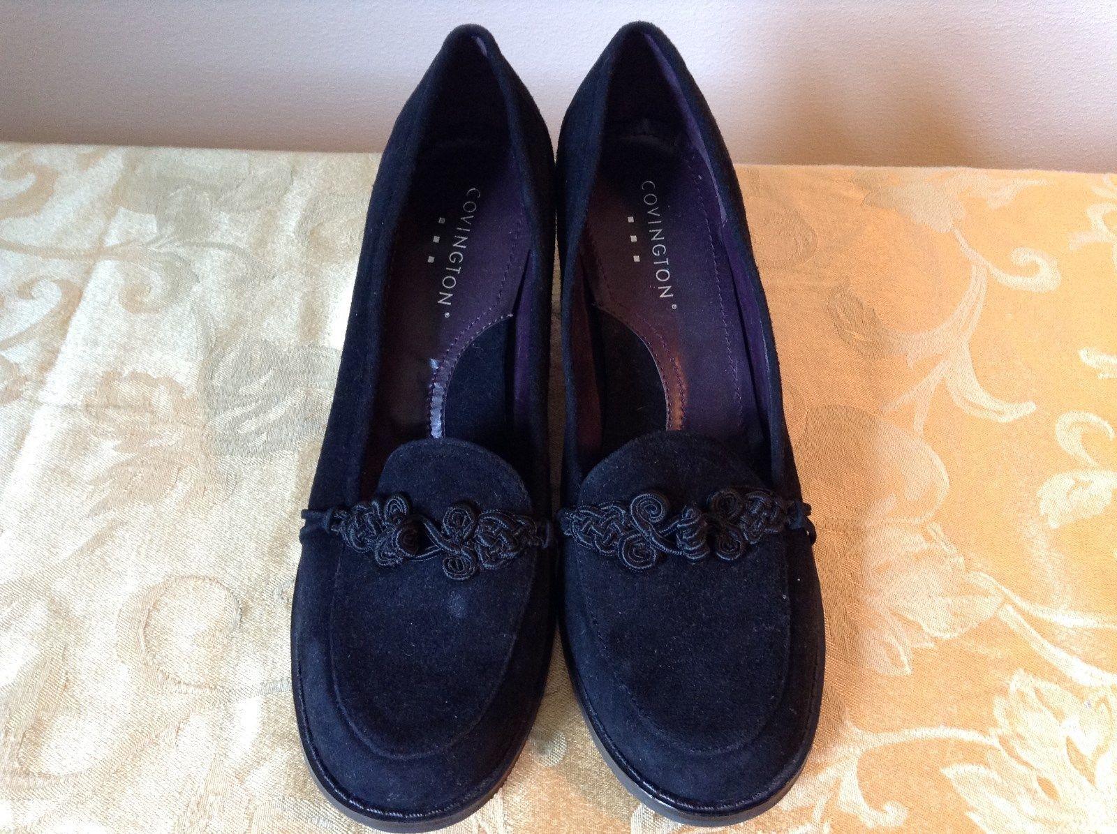 Covington Closed Toe Black Heels Size 9M