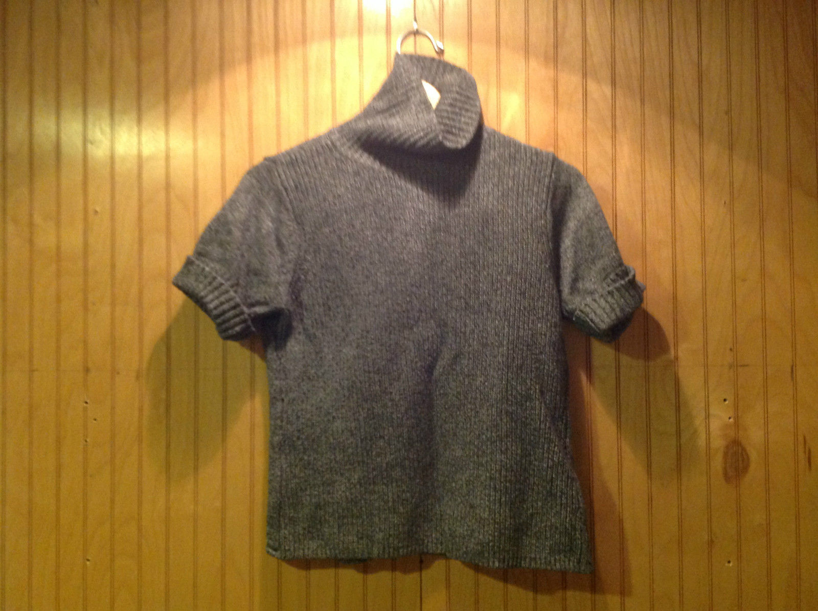 Crazy Horse Short Sleeve Gray Turtleneck Sweater Size L Excellent Condition