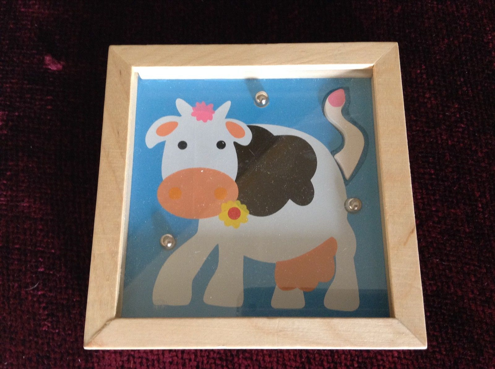 Cow Tip and Tilter Ball Puzzle Collectably Cute Animal Games House of Marbles