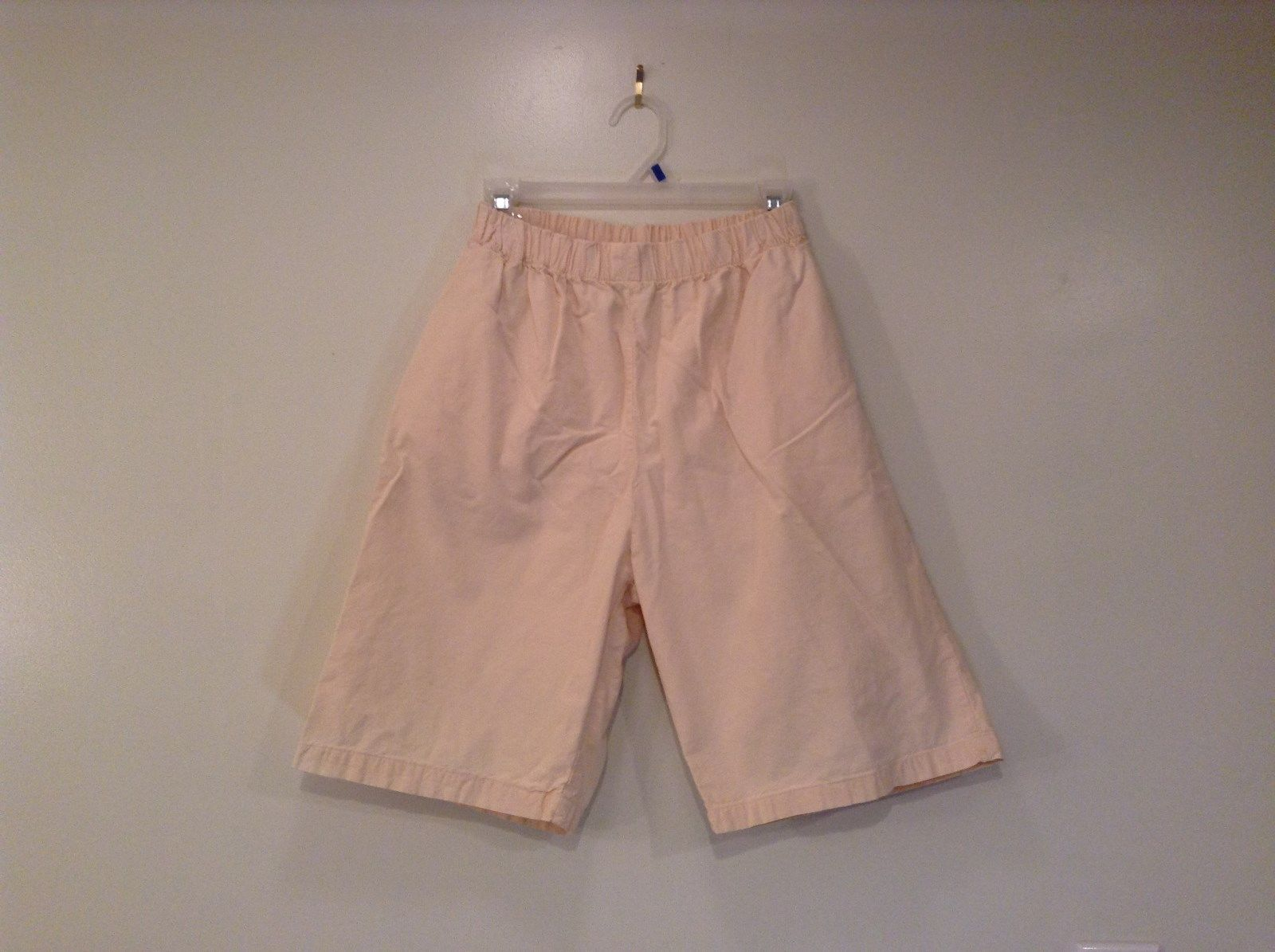 Cream 100 Percent Cotton Chicos Wear Anywhere Shorts One Size Elastic Waist