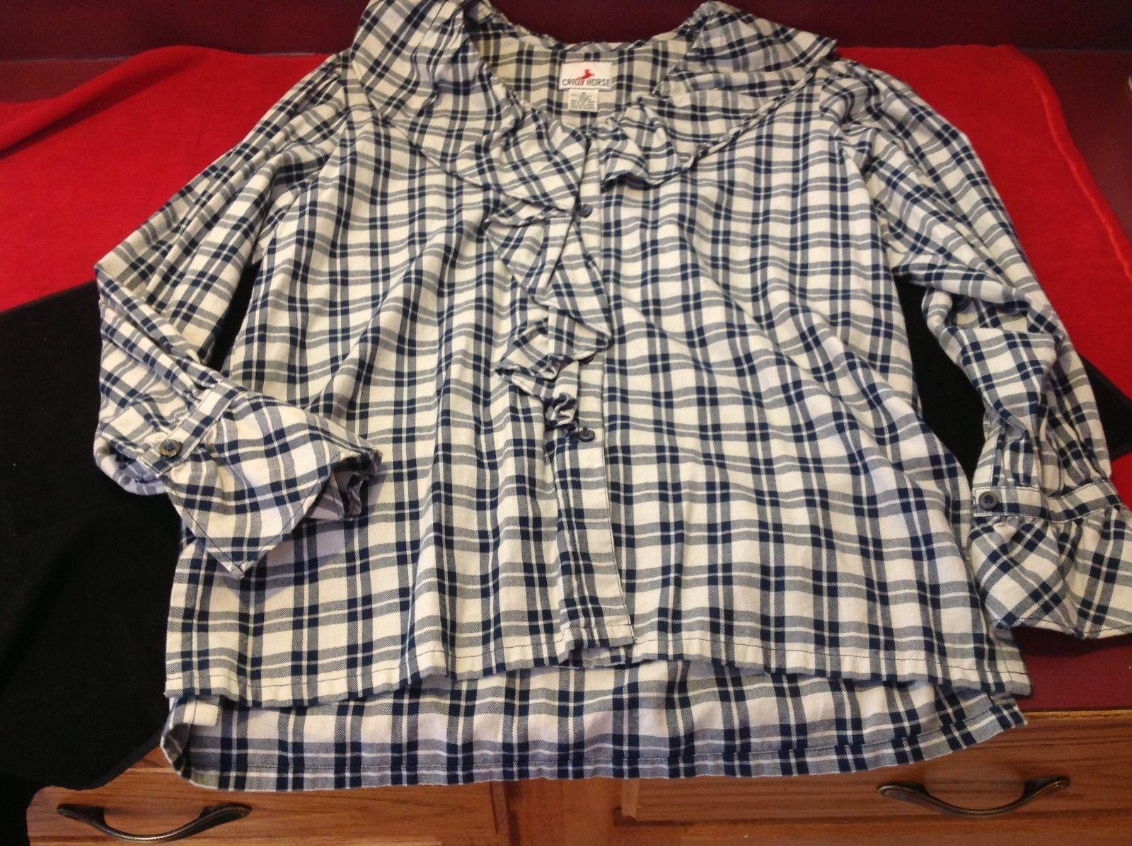 Crazy Horse Women's blue blouse size medium